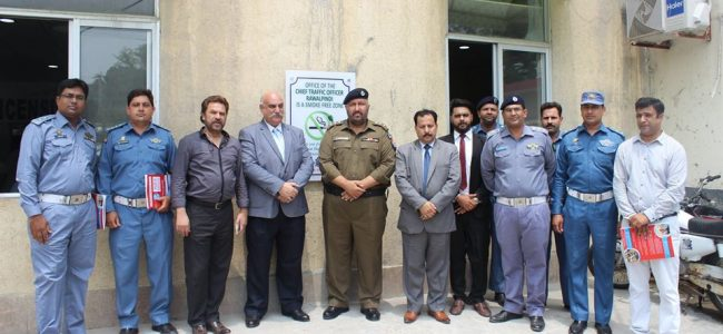 CITY TRAFFIC POLICE HEADQUARTERS RAWALPINDI INAUGURATED AS TOBACCO SMOKE FREE FACILITY