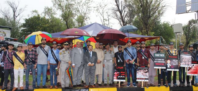 Road Awareness Campaign on Tobacco Control in collaboration with Islamabad Traffic Police