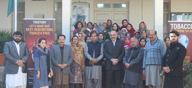 SMOKE FREE GENERATION: TRAINING WITH HEADS OF THE EDUCATION INSTITUTIONS (BHARA KAHU REGION), ISLAMABAD