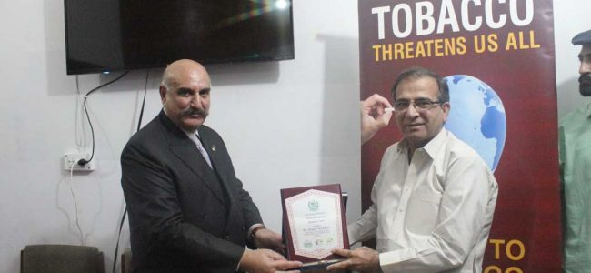 DISTRICT HEALTH AUTHORITY SIALKOT INAUGURATED AS TOBACCO SMOKE FREE FACILITY
