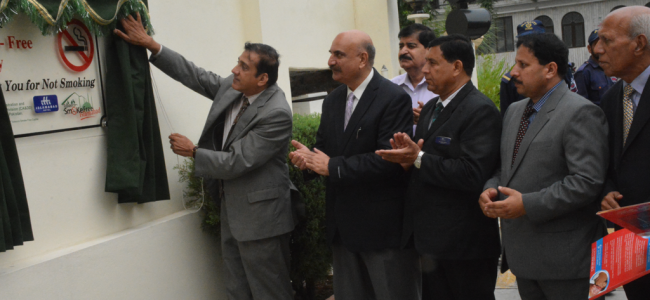Islamabad Hotel, Melody, Islamabad declared and inaugurated Tobacco-Smoke Free today