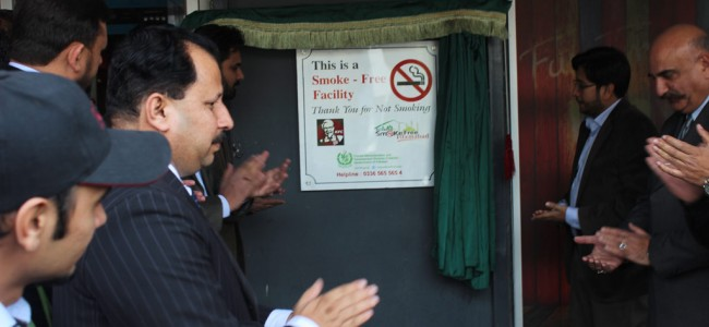 KFC, a leading fast food chain in Pakistan, inaugurated as Tobacco-Smoke Free Facility