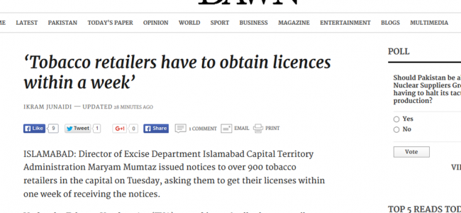 Tobacco retailers have to obtain licences within a week