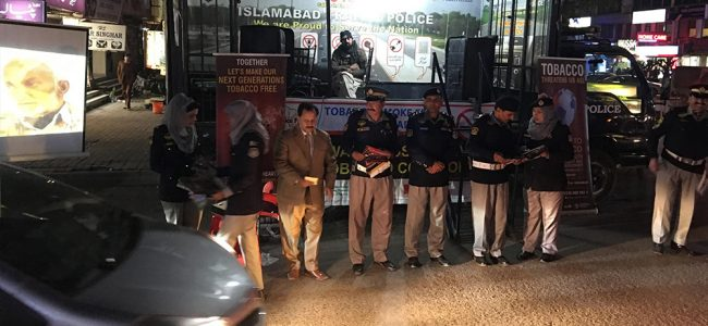 "Tobacco Smoke Free Islamabad"" Campaign in collaboration with Islamabad Capital Territory (ICT) Administration and Islamabad Traffic Police (ITP)"